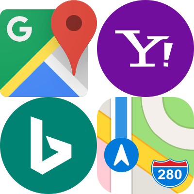 business listing and map icons